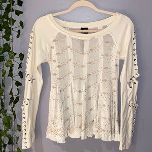 Woman's Free People Scoop Neck Sweater XS